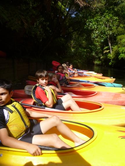 Kayaking at camp