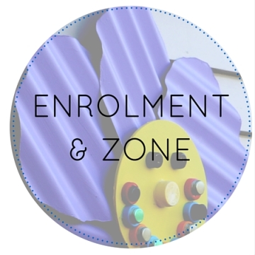 Circles enrolment and zone