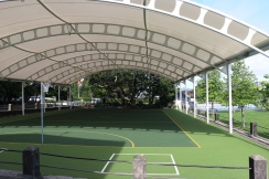 All weather gymnasium/canopy